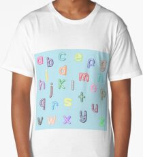Colorful alphabet Long T-Shirt