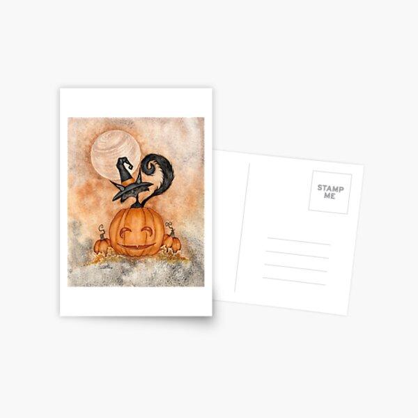 Halloween Kitty Postcard