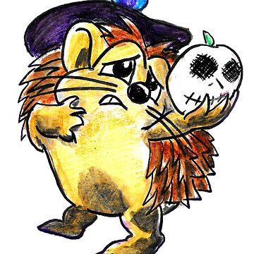 Halloween Mug- Hedgehog by ceruleanmocha