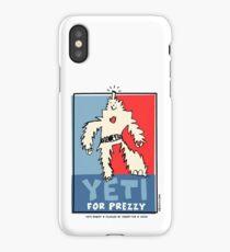 Yeti For Prezzy Retro President Election Comic Robot Monster Design iPhone Case/Skin
