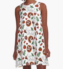 Viva Italia Pattern A-Line Dress