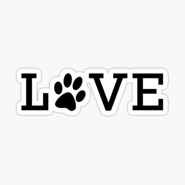 Pet Love | Black Sticker