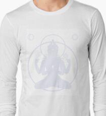 Minimalist Avalokiteshvara Buddha Print Long Sleeve T-Shirt