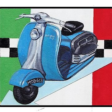 Mod Scooter with Italian Flag background by Housh68