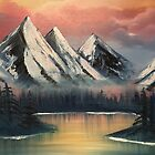 Happy Little Mountains Oil Painting by jaggerstudios