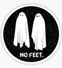 NO FEET - GHOSTS Sticker