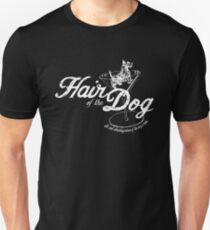 Hair of the Dog original wht Slim Fit T-Shirt