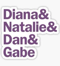 Next to Normal Characters | Purple Sticker