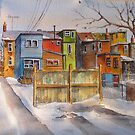 Laneways of Toronto (Landsdowne and Queen) by bevmorgan