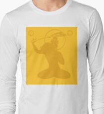 Minimalist Manjushri Buddha Print Long Sleeve T-Shirt