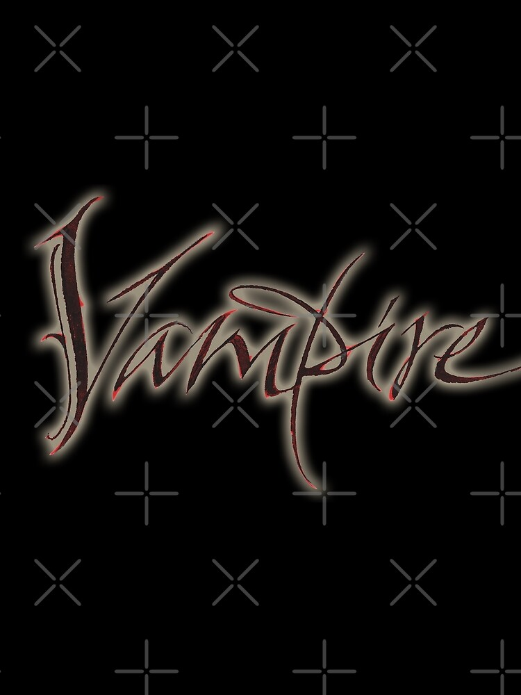 Elegant Vampire Hand Lettering Calligraphy - Glowing Blood - Halloween by 26-Characters