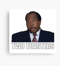 Stanley Hudson - Two Toasters Canvas Print