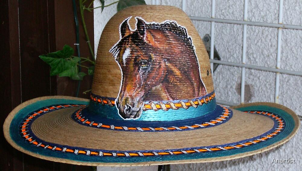 Tom Mix hat w/ friends blood arabian by Anartist