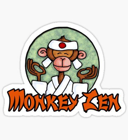 Monkey Zen Sticker