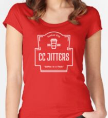 CC Jitters - Coffee In A Flash Women's Fitted Scoop T-Shirt