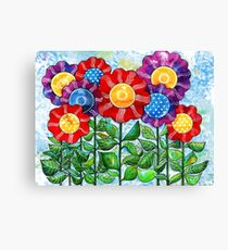 Happiest Flowers Canvas Print