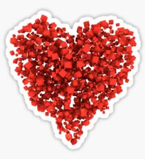 Voxel Heart Sticker