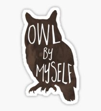 Owl By Myself - Pun Sticker