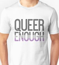 Asexual Pride - QUEER ENOUGH Unisex T-Shirt