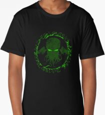 In his house at R'lyeh dead Cthulhu waits dreaming GREEN Long T-Shirt
