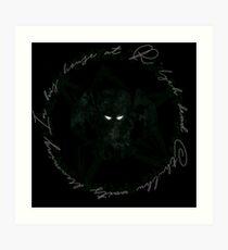 Elder Sign Cthulhu Art Print