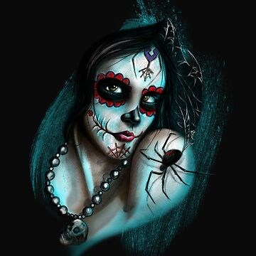 Day of the Dead, Tattooed Spider Girl, by GarnetLeslie