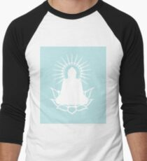 Lotus Buddha Minimalist Print Men's Baseball ¾ T-Shirt
