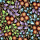 Floral Filigree  by PatriciaSheaArt