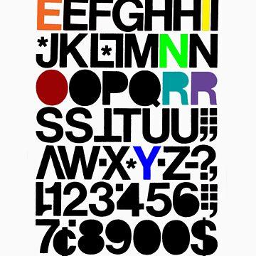 Alphanumeric (White) by reynoirjr