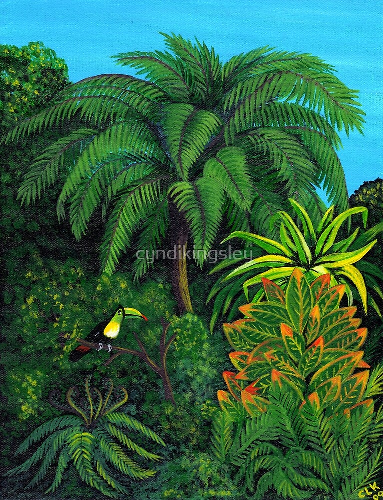 Jungle and Toucan by cyndikingsley