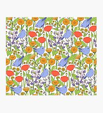 Birds and Wild Blooms Photographic Print