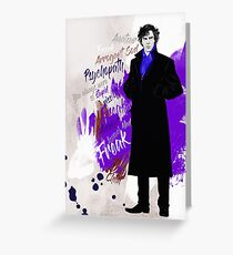 Sherlock BBC (Phenomena) Greeting Card