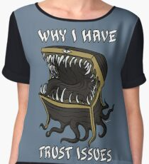 Why I Have Trust Issues Women's Chiffon Top