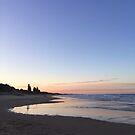 Coolum Beach at dusk by karenanderson