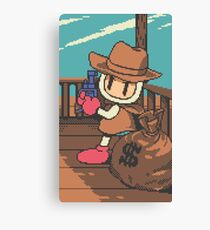 Panic Bomber W - Cowboy Canvas Print
