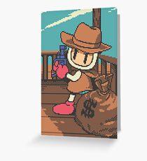 Panic Bomber W - Cowboy Greeting Card