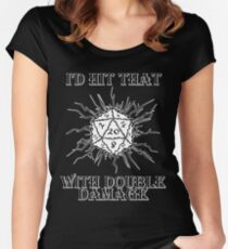 I'd Hit That D20 Women's Fitted Scoop T-Shirt