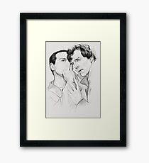 Sherlock BBC (Jim Moriarty) Framed Print