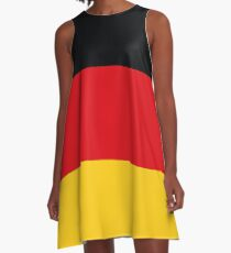 German Flag A-Line Dress