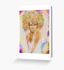 The girl with new hair style Greeting Card