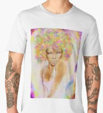 The girl with new hair style Men's Premium T-Shirt