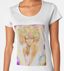 The girl with new hair style Women's Premium T-Shirt