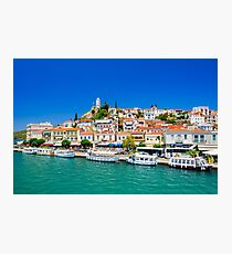 Beautiful view on greek island Poros Photographic Print