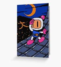 Panic Bomber W - Rooftop ☽ 大 Greeting Card