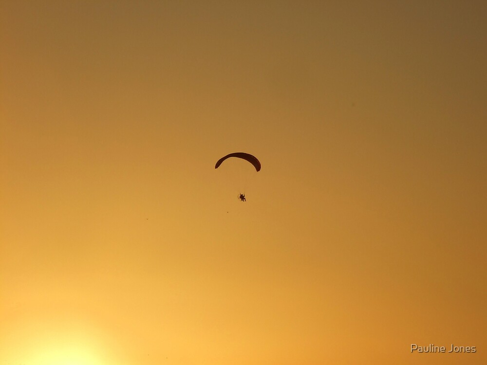 Paraglider at Sunset by Pauline Jones