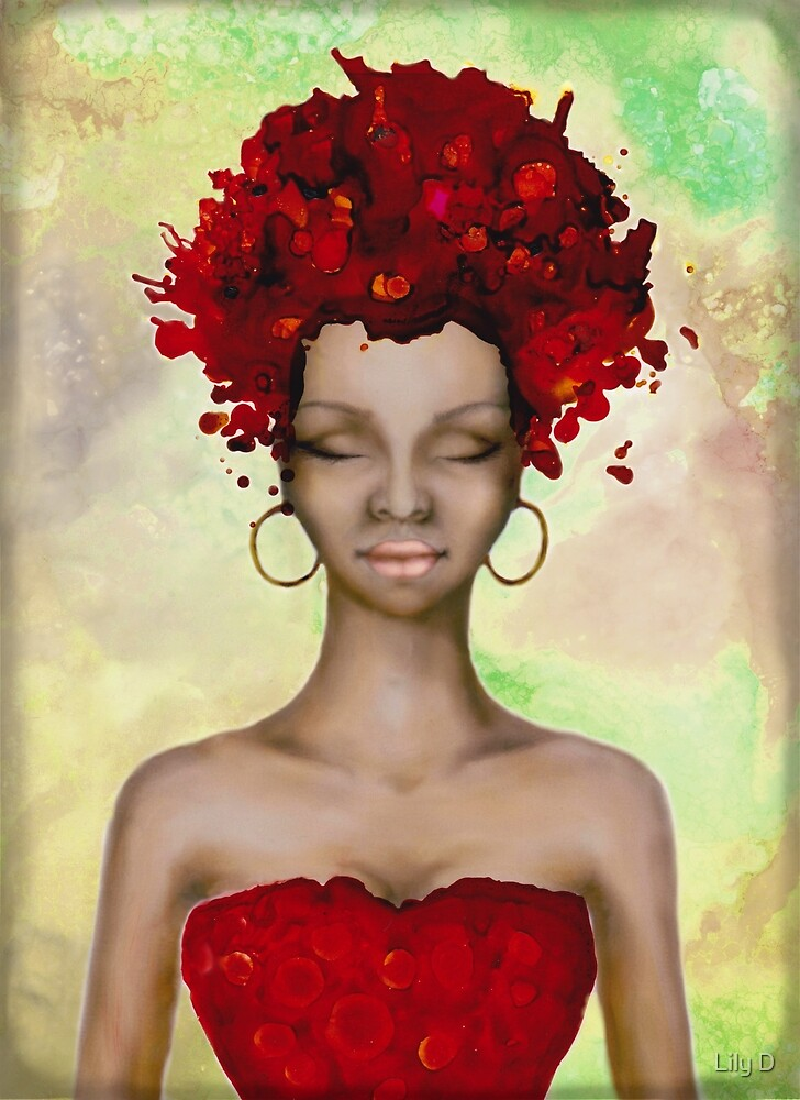 Crazy Red Hair morning by Art Dream Studio