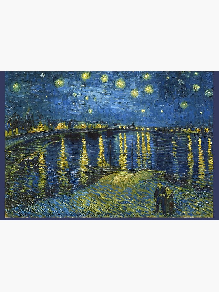Starry Night on the Rhone by Vincent van Gogh (Sept. 1888) by allhistory