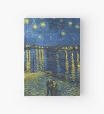 Starry Night on the Rhone by Vincent van Gogh (Sept. 1888) Hardcover Journal