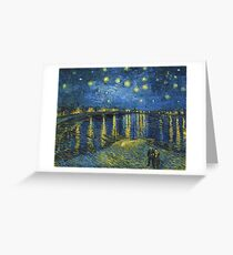 Starry Night on the Rhone by Vincent van Gogh (Sept. 1888) Greeting Card