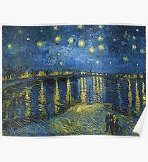 Sternennacht auf der Rhône von Vincent van Gogh (Sept. 1888) Poster
